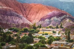 Colored landscape in Purmamarca, Jujuy Argentina